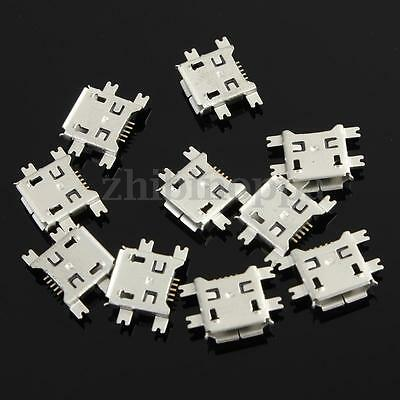 10Pcs Micro USB Type B  5Pin Socket 4Legs Female SMT SMD Soldering Connector
