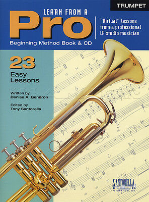 Learn From A Pro Trumpet Sheet Music Book with CD How To Play 23 Easy Lessons