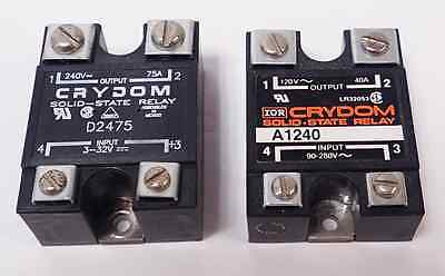 2Pcs Crydom D2475 / A1240 Solid-State Relays
