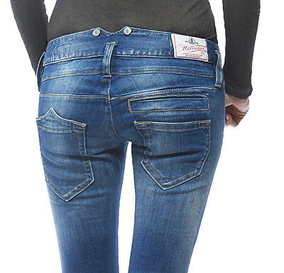 Herrlicher Pitch slim Denim Power stretch bliss Damen Jeans Hose W25-W31 Neu
