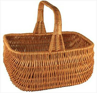Traditional Wicker Cookery Shopping Basket with Fixed Handle - SMALL SOUTHPORT