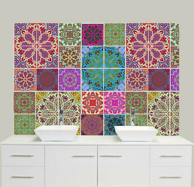Various Traditional Self-Adhesive Tile Sticker Decal Packs Kitchen Bathroom 6""