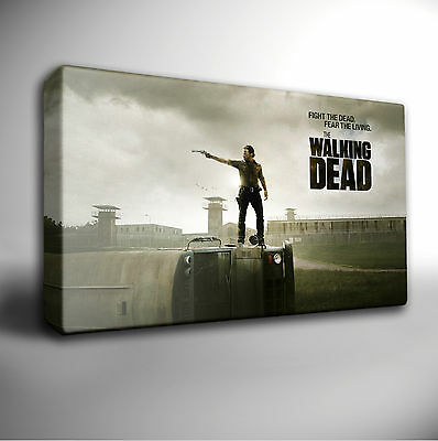 The Walking Dead Rick Daryl CANVAS PRINT Home Wall Decor Giclee Art Poster CA368