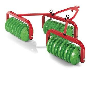 New Rolly Toys Pedal Tractor Cambridge Discs Roller Set - Pedal Tractor Harrow
