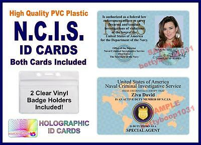 NCIS (Naval Criminal Investigative Service) ID Cards 2 CARDS INCLUDED NAVY ZIVA