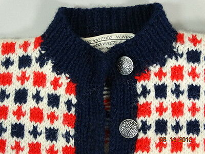 New lower price! Vintage Handknitted Small CHILD'S SWEATER HUSFLIDEN NORWAY
