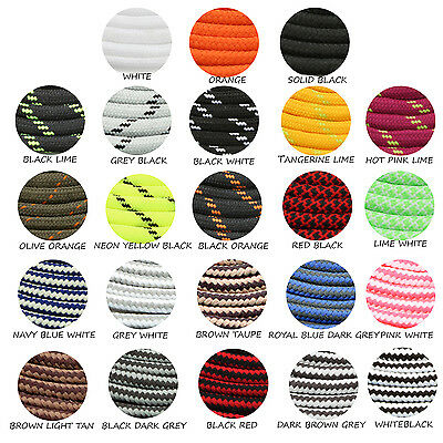 """Round Athletic Shoe Lace 27 36 45 60 78"""" Hiking Sneaker Shoelaces Strings -2Pair"""