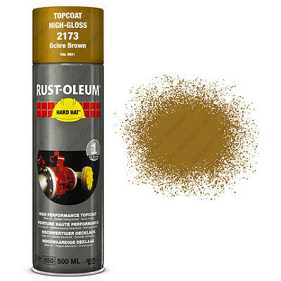 x21 Ultra-High Coverage Rust-Oleum Ochre Brown Spray Paint Hard Hat RAL 8001