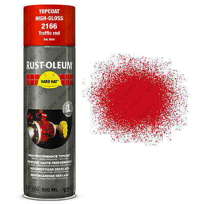 x21 Ultra-High Coverage Rust-Oleum Traffic Red Spray Paint Hard Hat RAL 3020