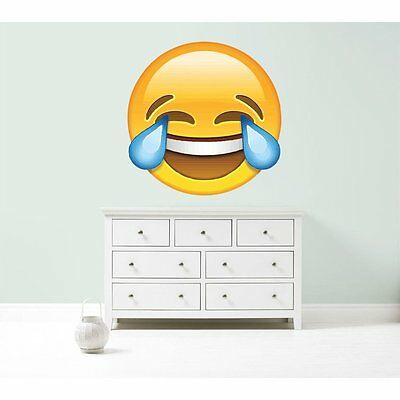 Emoji cry with laughter giant vinyl wall car decal sticker 5 size bedroom office