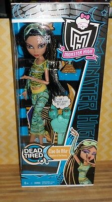 Monster High Dead Tired CLEO DE NILE Doll MIB The Mummy