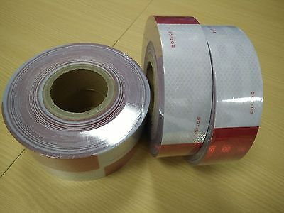 40' Foot Roll DOT C2 REFLECTIVE CONSPICUITY BUY TAPE RED WHITE FREE SHIPPING BUY