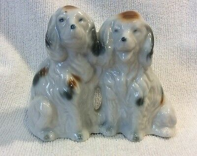 Vintage Porcelain Dog Figures Japan