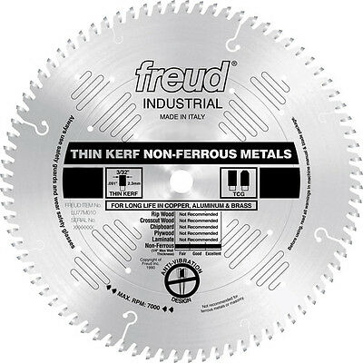 "Freud 12"" 96 Tooth Thin Kerf Non-Ferrous Metal Saw Blade LU77M012 New"