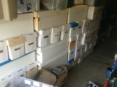 Huge Lot Of 300 comics , Storage Unit Find .