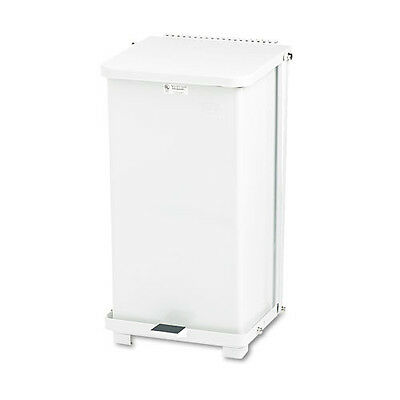 Rubbermaid 12 Gal. Biohazard Step Can (White) ST12EPLWH NEW