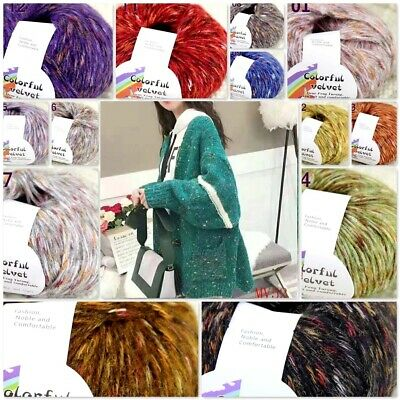 Sale New 1 Skeinx50gr Soft Warm Angora Cashmere Silk MOHAIR HAND KNITTING YARN B