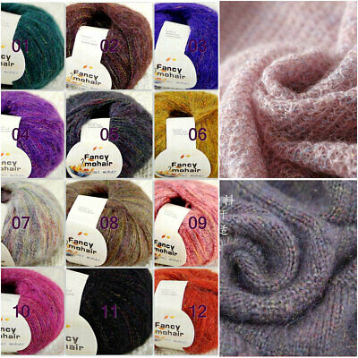 Sale New 1Skein x50gr Soft Warm Angora Cashmere Silk MOHAIR HAND KNITTING YARN A