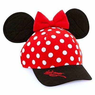 Disney Parks Minnie Mouse Ears Baseball Cap for Girls
