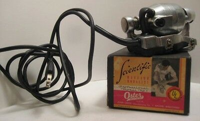 Old Scientific Massage Device in Box - Oster Model #1 - Racine Wis