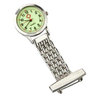Metal Nurse Chain Brooch Fob Watch Nursing Nurses Pendant Clip-on Pocket Quartz