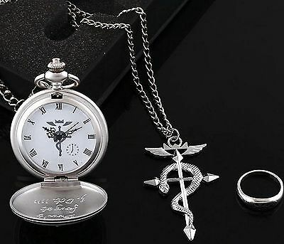 Anime Cosplay Fullmetal Alchemist:Brotherhood Pocket Watch Three-piece +box