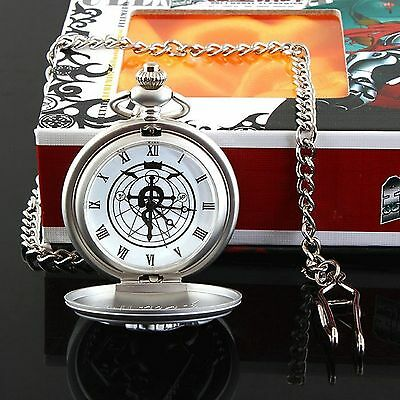 Christmas present,Anime Fullmetal Alchemist:Brotherhood Cosplay Pocket Watch+box