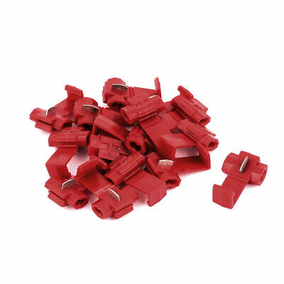 15Pcs Lock 22-18AWG Red Insulated Splitter Wire Quick Connectors Crimp