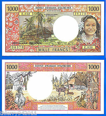 French Pacific 1000 Francs CFP French Polynesia Tahiti New Caledonia France