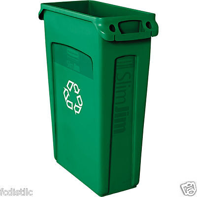Rubbermaid Slim Jim Recycling Container Green 23 gal