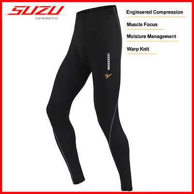 SUZU Compression Pants Base Under Layers Tights Skins Baselayer Running Leggings