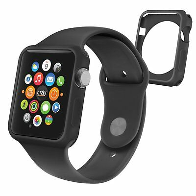 Silicon Rugged Accessory Protective Case 42mm For Apple Watch Sport IWatch Black
