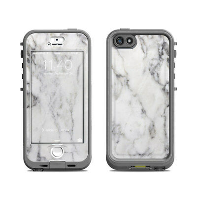 Skin for LifeProof Nuud iPhone 5S - White Marble - Sticker Decal