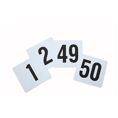 Winco TBN-50, 4x3.75-Inch Plastic Table Numbers, 1-50 Series