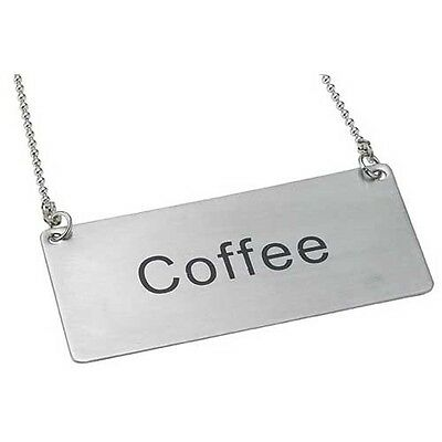 """Winco SGN-203, Stainless Steel Chain Sign """"Coffee"""""""