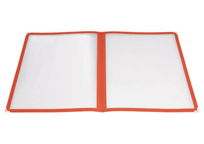 Winco PMCD-9R, 12x9.5-Inch Red Double Fold Menu Cover