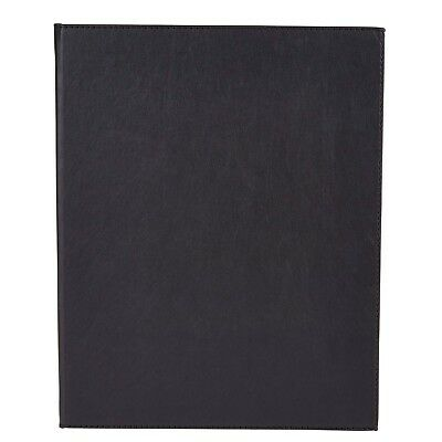 Winco LMD-811BK, Black Two-Views Menu Cover for 8.5x11-Inch Inserts