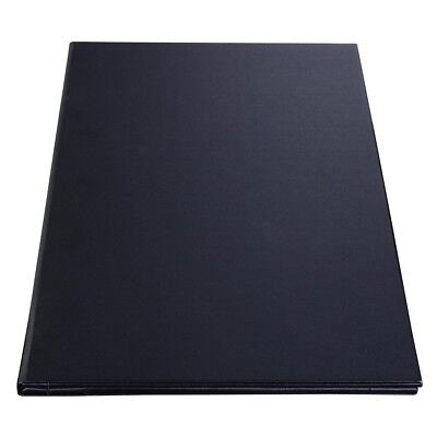 Winco LMF-811BK, Black Four-Views Menu Cover for 8.5x11-Inch Inserts