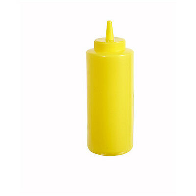 Winco PSB-08Y, 8-Ounce Yellow Plastic Squeeze Bottle