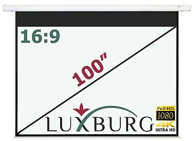 """Luxburg® 100"""" 221x125 cm Full HD Electric Motorised Projector Projection Screen"""
