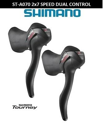SHIMANO ST-A070 2x7 SPEED STI LEVERS  gear inner cables included