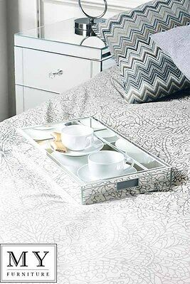 Mirrored  Serving Tray ideal gift - By My-Furniture
