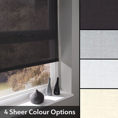 Sheer Roller Blinds - Made To measure Quality Sheer Voile Blinds From Just £25
