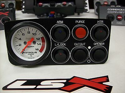 "97-02 Trans Am Camaro Z28 LSX Nitrous Oxide Control Panel 2-1/16"" Gauge 6 switch"