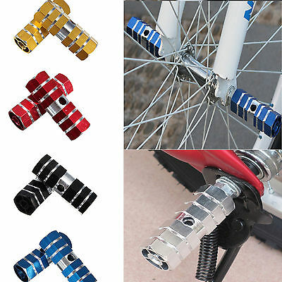 1Pair BMX MTB Bike Bicycle Foot Pegs Aluminum Alloy 3/8'' Axle Pedals Stunt Stan