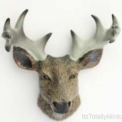 Dollhouse Miniature 1:12 Scale Deer Head with Antlers #JCD1995-32