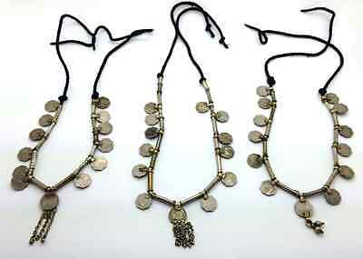 Lot of 3 Banjara Coin Necklaces Unique Tribal Jewelry for Resale Vending Faires