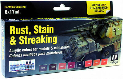 Vallejo Model Color Set - Rust, Stains and Streaking (x8) # 70183