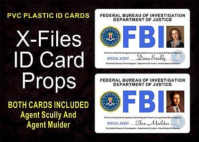 X-Files FBI ID Cards / Badges Prop ( AGENTS Scully & Mulder)  BOTH INCLUDED  PVC