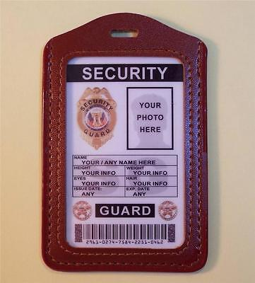 Security Guard ID Badge    FULLY CUSTOMIZABLE WITH YOUR PHOTO & INFO